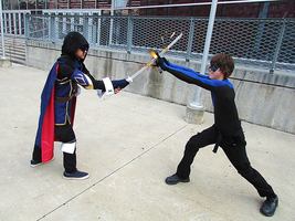 Lucina vs Nightwing - Montreal Mini Comic Con 2015 by J25TheArcKing
