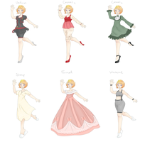 Ulrika Ref - Outfits by indi-dere