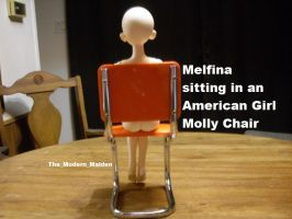 Melfina in American Girl Molly Chair 3 by The-Modern-Maiden