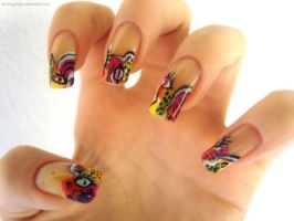 Picasso Nails by DancingGinger
