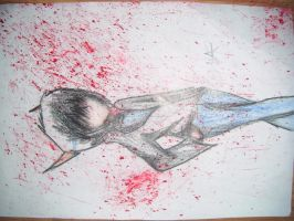 I found out a new splatter effect on paper :D by Xaisen