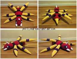 Ariados Plushie by Possumato