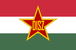 Flag of the Union of Working Youth (Hungary) by ShitAllOverHumanity