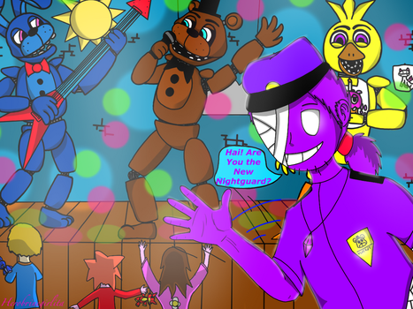 Five nights at freddy's purple guy Vincent by herobrinegirlita