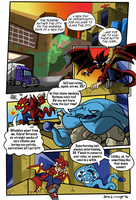 Commish: DragonGirl Dawn of Crime pg1 by BlueIke