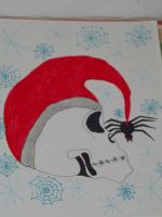 christmas/spider skull by 6death6stars6