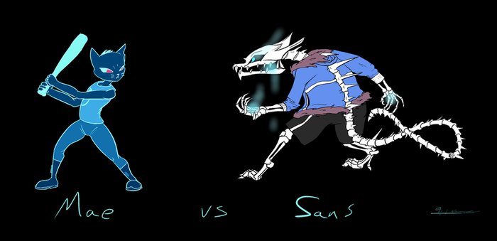 Mae And Sans by Torcher999
