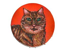 Tabby Cat Canvas Painting by DeadLulu
