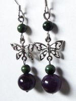 Amethyst and Jasper Butterfly by VioletRosePetals