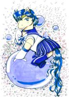 Sailor Mercury Pony Style by hollowzero