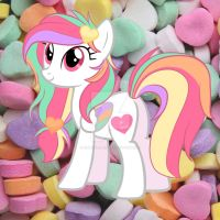 Valentine Candy Heart Pony Adoptable CLOSED by EmbersLament