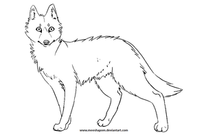 wolf lineart by meeshmoose