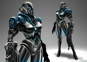 Cybernetic Police Unit by freakyfir
