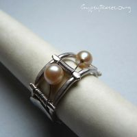 Classic yet Tribal SS Ring by che4u