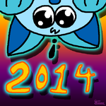 New Year's Kitty 2014 by kkdoodlez