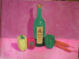 Still life with bottle by laurichg