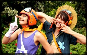 OP - Usopp and Luffy by Berpi