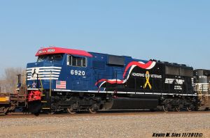 Honoring Our Veterans locomotive #6920 by EternalFlame1891