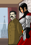 The Man of Steel and the Superwoman by johnnyharadrim
