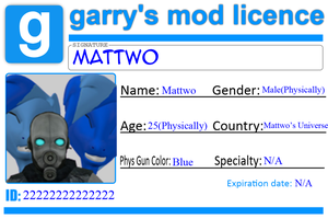 Gmod Licence Thing. by mattwo