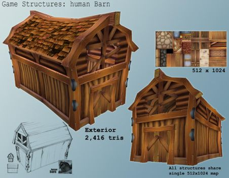 Game Model - Human Barn by gronch