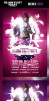 Pillow Fight Party Flyer Template by odindesign