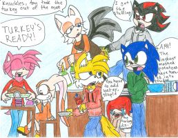 A Chaotic Sonic Thankgiving by Sushibeth