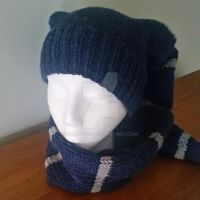 Blue and Gray Stocking Cap by Wendifer
