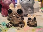 Skeleton Toadbit and matching Toadito by TheAmused