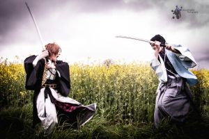 Kazama + Hijikata - Fight for death! by RomaiLee