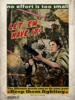The Guns of Endor! Star Wars CVI print by gattadonna