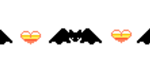 Cute Annimated Bat Pixel Divider by gutterface