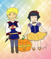 NaruHina Kiddy Halloween by HinaTink