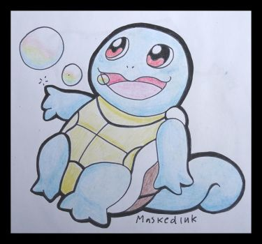 starters squirtle by maskedink