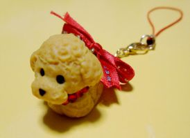 Poodle Phone Charm by KralleCakes