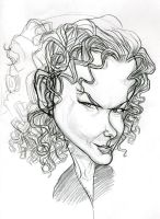 Nicole Kidman sketch by kgreene
