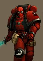 Deadpool Space Marine by FonteArt