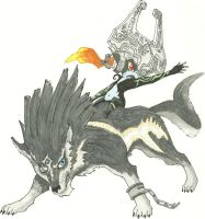 Wolf link and Midna WIP by CAP7AIN-TEZZ-VII