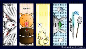 Bookmark Set 1: Critters by Hermsi