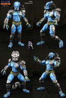 AvP Arcade Custom Mad Predator figure by Jin-Saotome