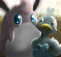 wigglytuff and Ducklett by All0412