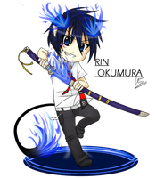 Rin Okumura Chibi by Dressagefreak