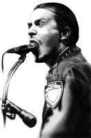 Mike Patton Eating Mic by Wiwewo