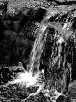 Black and white waterfall by Evil-elz