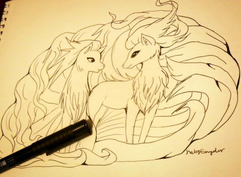 Two Ninetales by Floraella