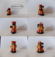 Tiny Supreme Dalek Charm by PhantomxFan