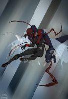 Superior Spider-Man VS Spider-Man 2099 by deu-O