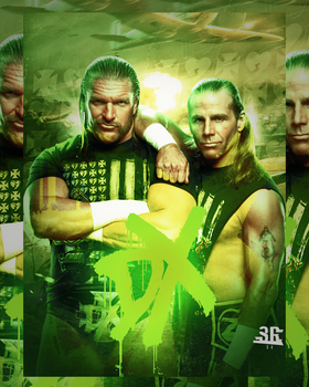 Triple H and Shawn Michaels - DX by WWESlashrocker54