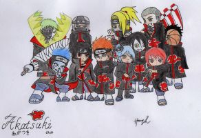 Chibi Akatsuki Coloured by HaRRyLL