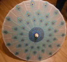 Peacock Parasol by Merwenna